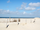 Christliche eCard Wolken, lucht strand