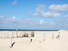 Christelijke e-card Wolken, lucht strand